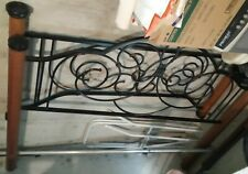 Gothic Wrought Iron Black Scroll Rustic Headboard & Footboard - Queen (new pics)