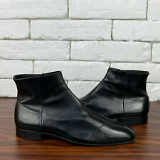 Authentic PRADA Ankle Boots Full Zip Black Leather Sz 7.5 US or 40.5 EUR