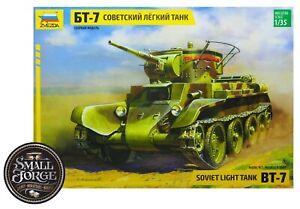 Zvezda Model, Soviet Light Tank BT-7, 1:35 Scale. ZV3545, NEW