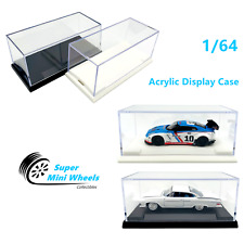 Acrylic Display Case 1:64 Base For Diecast Model Car Black/White Hot Wheels