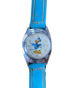Vintage US TIME Disney DONALD DUCK Lady Hand-Wind Mechanical Watch For Repair