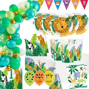 Birthday Party Supplies Safari Animal Jungle Tableware Cups Napkins Boy Girl