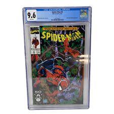 1991 Spider-Man #8 CGC 9.6 Todd McFarlane Wolverine Wendigo Appearances Marvel