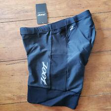 "ZOOT Men's XXL Tri Shorts Black 6"" Inseam Padded Swim Bike Run Triathlon 2XL"
