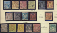 France Stamps Scott Peace And Commerce Issues 1876-1900, Used, 20 Different
