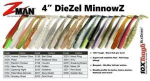 Brand New - ZMan DieZel MinnowZ 4 Inch Soft Plastic Fishing Lure Z-Man Z Man Min