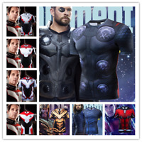 Mens Tops Superhero Avengers Marvel 3D Print T-shirt Compression Sports Gym Tee