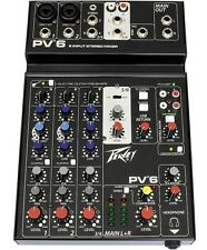New Peavey PV6 6 Channel Mixer with USB