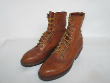 Chippewa USA Leather Roper Packer Boots Men's 8 EE Leather Cowboy Boots Vintage
