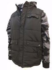 Ecko Unltd Men's 2PC Set Black Camo Vest and Full-Zip Hoodie (Retail $88)