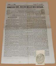 Giornale del Regno delle Due Sicilie 7 Nov. 1842 Pavia Sant'Agostino reliquia