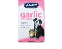 Johnsons Garlic 2 x 40 Tablets - For Dogs Cats Natural Herb Remedy Fleas Worms