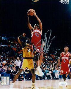 Jerry Stackhouse Philadelphia 76ers Signed 8x10 Glossy Photo JSA Authenticated