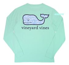"NWT Vineyard Vines Men LS Graphic Pocket Crew Neck Tee ""DOLPHIN FISH WHALE"""