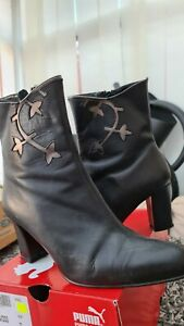 Ladies Leather Cowboy Linedancing Boots 6.5
