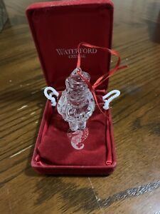 Waterford Crystal small Santa Claus Christmas Tree Ornament