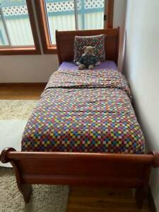 King Single bed with mattress