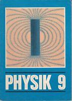 Physik Klasse 9 Volk und Wissen DDR-Lehrbuch 1987