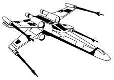 Star Wars X-Wing Fighter vinyl car Decal / Sticker