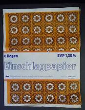 Einschlagpapier Geschenkpapier DDR 5 Bögen 3 Muster ca. 1970