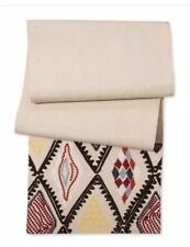 Threshold Cream Kitchen Textiles Black Red Multi Embroidered Table Runner New