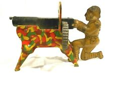 Vintage Marx Tin Litho WWI Machine Gunner
