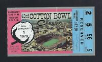 VINTAGE 1979 NCAA COTTON BOWL TICKET STUB - NOTRE DAME - MONTANA CHICKEN SOUP