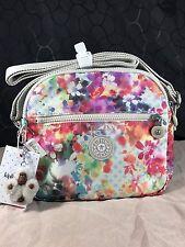 New $89 Kipling Keefe Garden Happy Floral Flowers Crossbody or Shoulder Bag