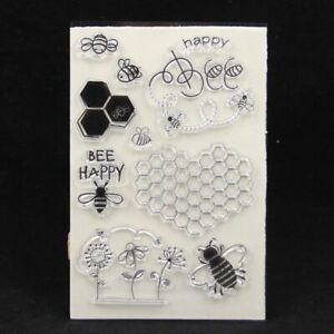 1pc Bee Transparent Silicone Stamp Clear Card Making Seal Stamps DIY Scrapbookin