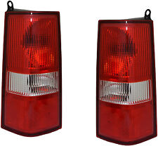 Tail Lights Lamps Assembly New Pair Set for 03-16 Chevy Express Van