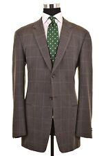 RECENT Armani Collezioni Green Blue Gray TWEED Wool Check Sport Coat Jacket 42 L