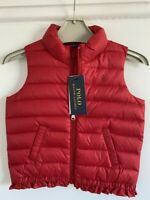 Ralph Lauren Polo baby girls red gillet sleeveless coat Age 3 Years 3/3T RRP£115