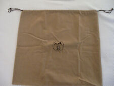 "Jumbo Hermes Dust Cover - Caleche Logo, Light Brown Velour, 21"" by 19 1/2"", New"