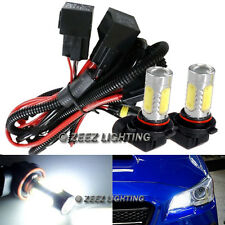 High Beam LED DRL Daytime Running Light Conversion Kit w/ 6000K 9005 Hi-B Bulbs