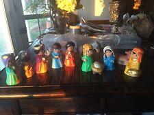 11 Piece Ceramic Mexican Nativity Children