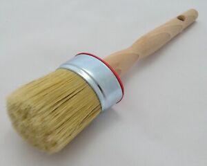 50mm OVAL Pure Bristle Professional Paint Brush, Chalk Paint, Wax & Oil Paint.