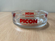Vintage Picon Glass Ashtray Aperitif France Home Bar