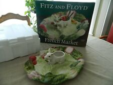 Fitz and Floyd French Market Sectioned Server Pig Has Original Box