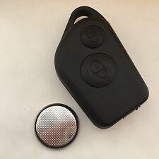 CITROEN Saxo Xsara Picasso Berlingo 2 botón remoto CLAVE FOB CASO con batería