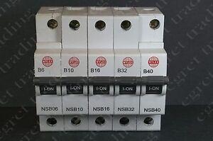 Wylex NSB range B type C type MCB Miniature Circuit Breaker