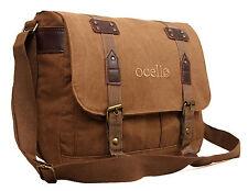 New Canvas Ocello School Work College Laptop Uni Satchel Messenger Shoulder Bag