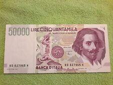 ITALIA,  50.000 lire 1997 repubblica italiana. 2* tipo