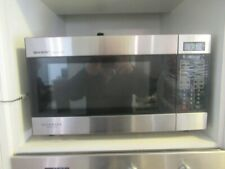 Sharp R395Y BK Microwave Oven - Stainless Steel - Very Good Condition