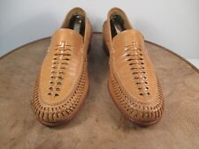 Florsheim Tan Leather Slip On Loafers Size 6 M Made in Italy