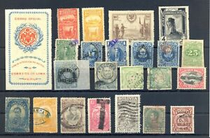 SOUTH AMERICA -PERU BOLIVIA MIXED COUNTIES 23 ST. UNSORTED -F/VF