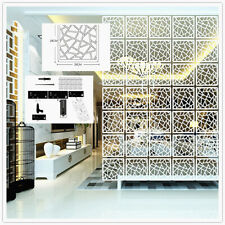 6pcs/12Pcs DIY Room Divider White Hanging Screen Crack Lattice Wall Panel Decor