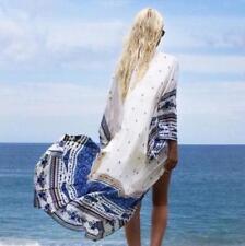 Bohemian Summer Beach Bikini Cover Up Kaftan Plus Long Kimono Cardigan Cape Coat