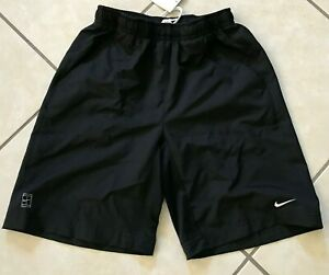 Nike Dri-Fit Boys Tennis Shorts Black-White XS  254383-010