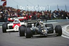 Nigel Mansell JPS Lotus 95T French Grand Prix 1984 Photograph 2