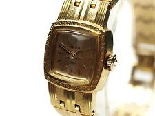 Auth RADO Jade Vintage Gold Plated Hand-Winding Ladies Watch 305.7903.2